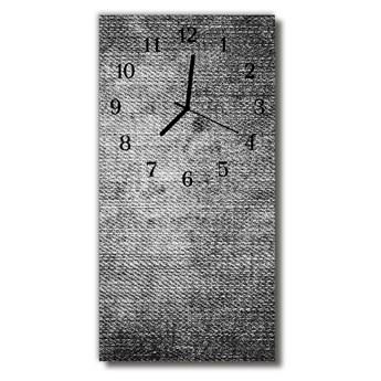 Zegar Szklany Pionowy Płótno szary