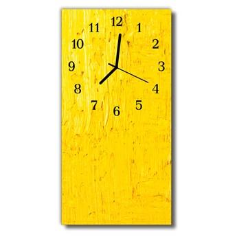 Zegar Szklany Pionowy Sztuka Abstrakcja grafika żółty