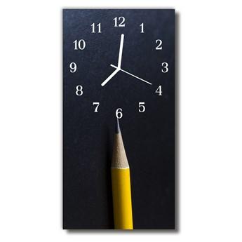 Zegar Szklany Pionowy Ołówek kolorowy