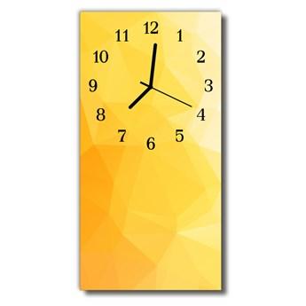 Zegar Szklany Pionowy Sztuka Wzorzec żółty