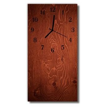 Zegar Szklany Pionowy Panele drewniane brązowy
