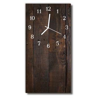 Zegar Szklany Pionowy Drewno brązowy