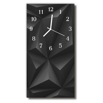 Zegar Szklany Pionowy Sztuka 3d grafika czarny