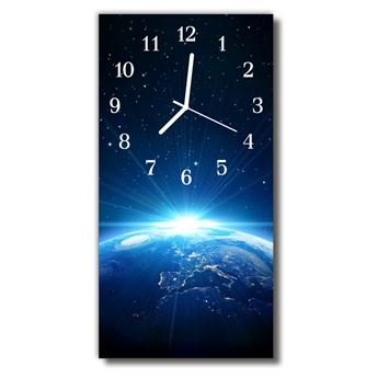 Zegar Szklany Pionowy Wszechświat planeta niebieski