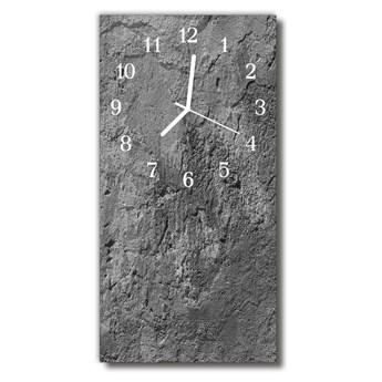 Zegar Szklany Pionowy Betonowy mur szary