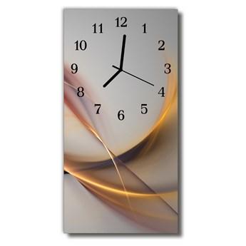 Zegar Szklany Pionowy Sztuka Abstrakcja grafika beżowy