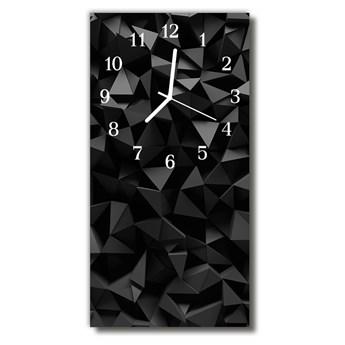 Zegar Szklany Pionowy Nowoczesny Geometria grafika 3d