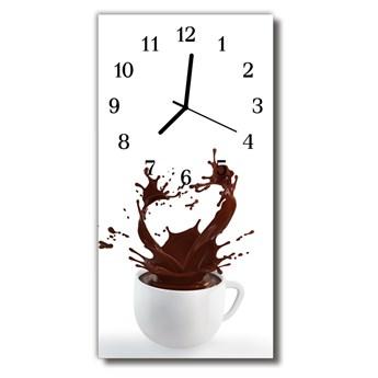 Zegar Szklany Pionowy Kuchnia Kawa kolorowy