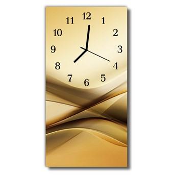 Zegar Szklany Pionowy Sztuka Abstrakcja beżowy