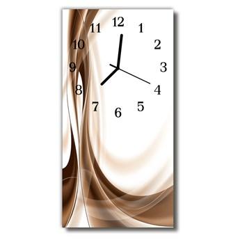 Zegar Szklany Pionowy Sztuka Grafika linie beżowy