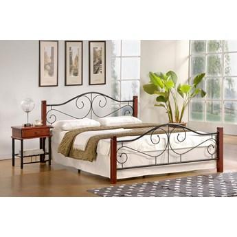 Łóżko z metalową ramą i zagłówkiem Violetta 140