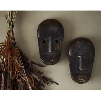 Dekoracja ścienna Mask 23 cm ciemnobrązowa