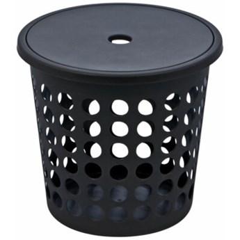 Kosz na pranie PLAST TEAM 6009 45L Czarny