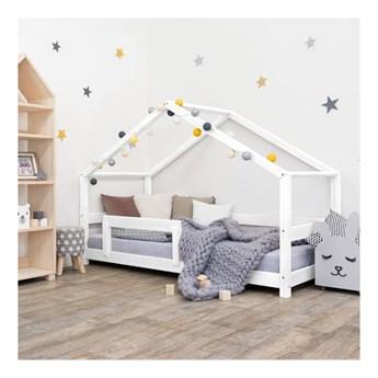Białe drewniane łóżko dziecięce Benlemi Lucky, 90x160 cm