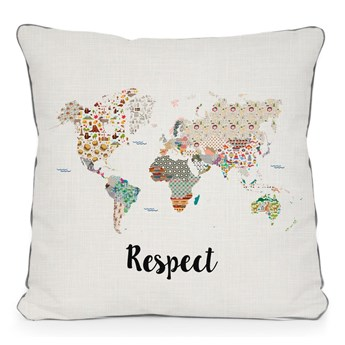 Beżowa poduszka Really Nice Things Respect, 45x45 cm