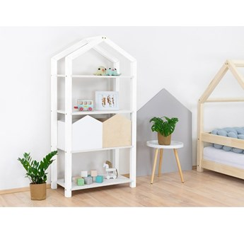 Biały drewniany regał dziecięcy Benlemi Tally, 77,2x39x152,2 cm