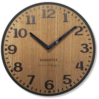 Drewniany zegar ścienny dąb ELEGANTE