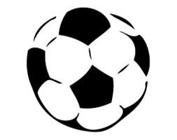 Szablon malarski z tworzywa, wielorazowy, wzór sport 9 - Piłka nożna