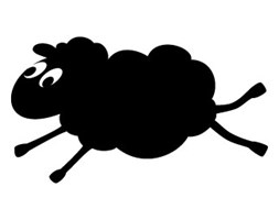 Szablon malarski z tworzywa, wielorazowy, wzór dla dzieci 13 - Owieczka Halinka