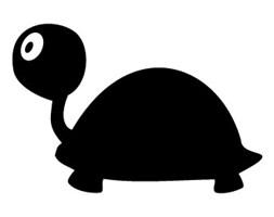 Szablon malarski z tworzywa, wielorazowy, wzór dla dzieci 10 - Żółwik Grażyna