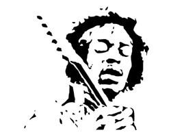 """Szablon malarski, wielorazowy, wzór sylwetka 13 - """"Jimi Hendrix"""""""