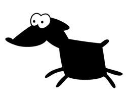 Szablon malarski z tworzywa, wielorazowy, wzór dla dzieci 19 - Pies Azor, kumpel Fafika