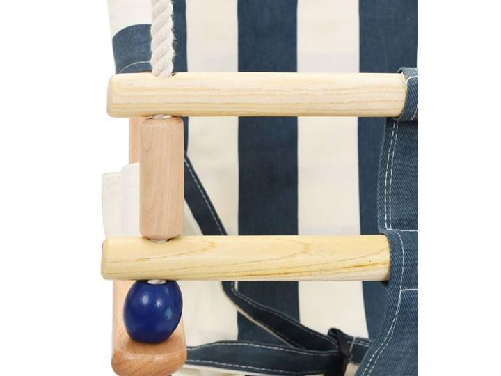 Niebiesko-biała huśtawka dla dziecka - Ida Kubełkowa Kategoria Huśtawki dla dzieci