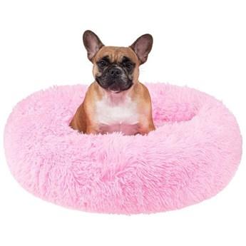 Legowisko dla psa 80cm, pluszowe posłanie dla kota różowy