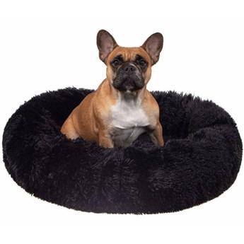 Legowisko dla psa 50cm, pluszowe posłanie dla kota czarny