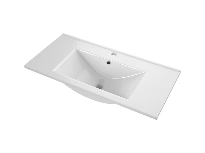 Umywalka meblowa ceramiczna 81,5 x 46 cm Meblowe Ceramika Kolor Szary