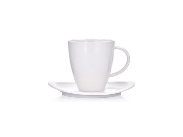 Filiżanka ze spodkiem DUKA ASPEN 170 ml biała porcelana Kategoria Filiżanki Kolor Biały