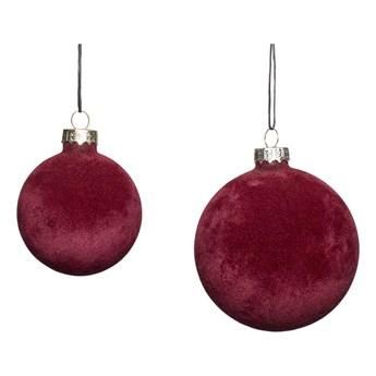 BOMBKA CHRISTMAS RED WELUROWE  HUBSCH 2 SZT.