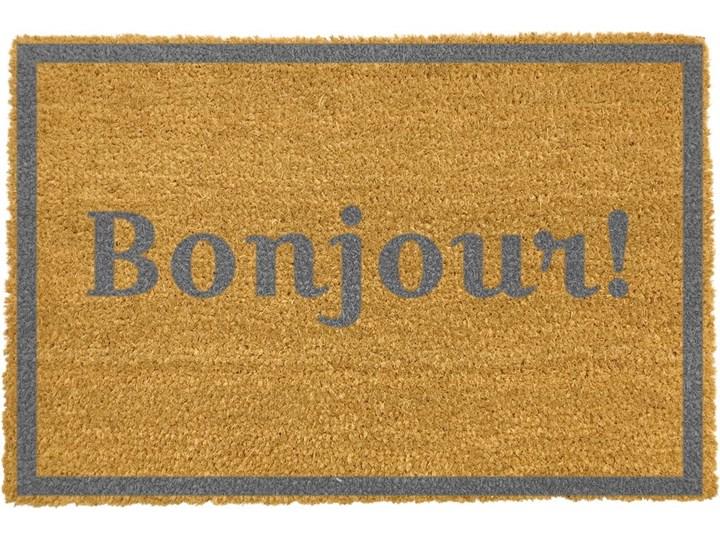 Wycieraczka Artsy Doormats Bonjour Grey, 40x60 cm Włókno kokosowe Kategoria Wycieraczki Kolor Szary