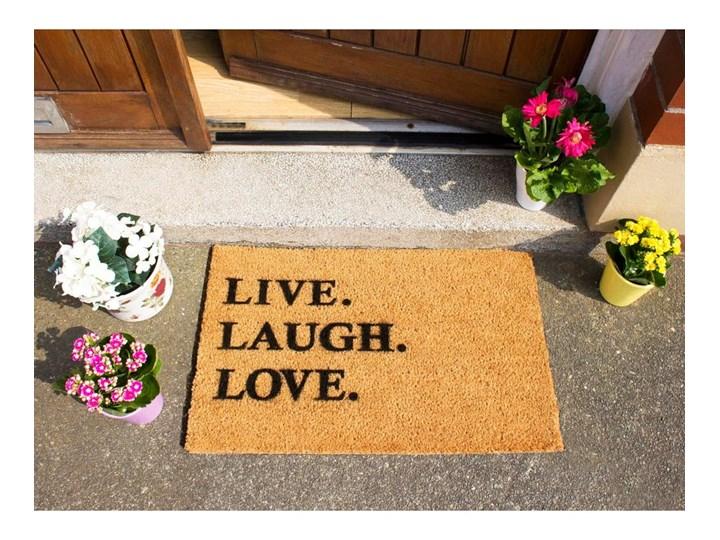 Wycieraczka z naturalnego kokosowego włókna Artsy Doormats Live Laugh Love, 40x60 cm Kolor Brązowy Włókno kokosowe Kategoria Wycieraczki
