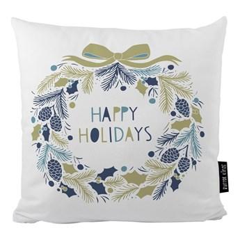 Poduszka ze świątecznym motywem Butter Kings Holiday Wreath, 45x45