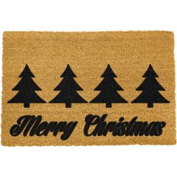 Wycieraczka z naturalnego włókna kokosowego Artsy Doormats Merry Trees, 40x60 cm