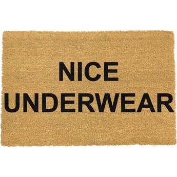 Wycieraczka z naturalnego włókna kokosowego Artsy Doormats Nice Underwear, 40x60 cm