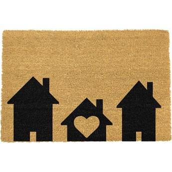 Wycieraczka z naturalnego włókna kokosowego Artsy Doormats Home is Where, 40x60 cm