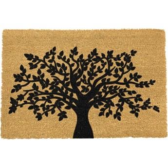 Wycieraczka z naturalnego kokosowego włókna Artsy Doormats Tree of Life, 40x60 cm