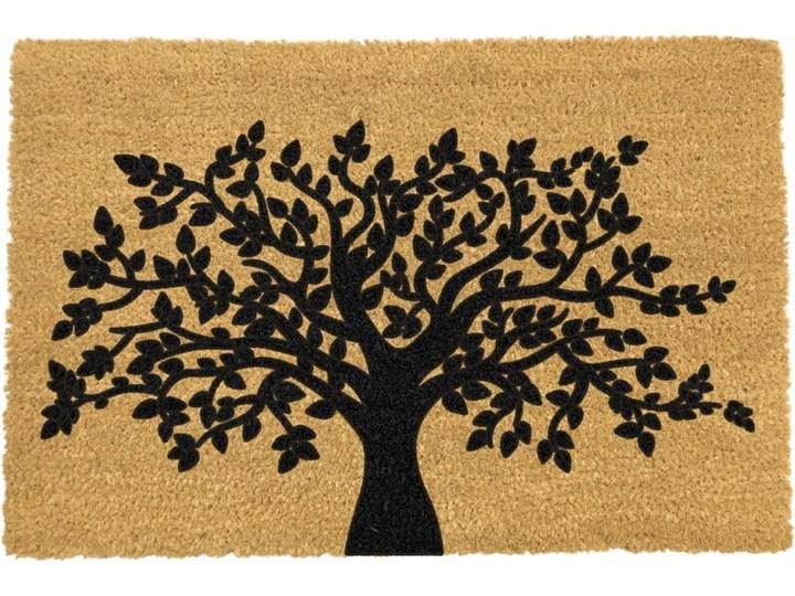 Wycieraczka z naturalnego kokosowego włókna Artsy Doormats Tree of Life, 40x60 cm Włókno kokosowe Kategoria Wycieraczki Kolor Pomarańczowy