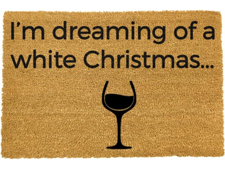 Wycieraczka z naturalnego włókna kokosowego Artsy Doormats White Wine Christmas, 40x60 cm Kategoria Wycieraczki Włókno kokosowe Kolor Beżowy