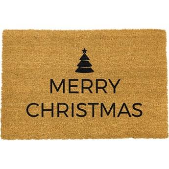 Wycieraczka z naturalnego włókna kokosowego Artsy Doormats Merry Christmas, 40x60 cm