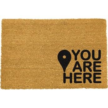 Wycieraczka z naturalnego kokosowego włókna Artsy Doormats You Are, 40x60 cm