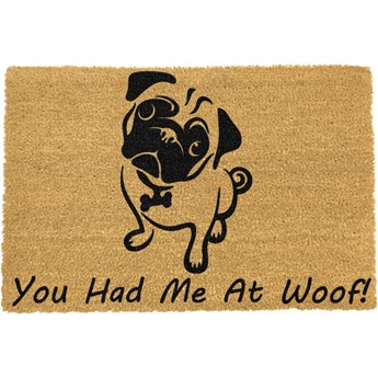 Wycieraczka Artsy Doormats You Had Me At Woof Pug, 40x60 cm