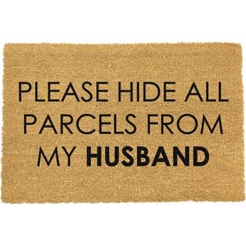 Wycieraczka z naturalnego włókna kokosowego Artsy Doormats Please Hide, 40x60 cm