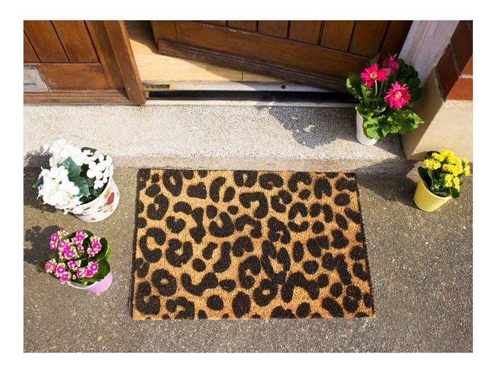 Wycieraczka z naturalnego włókna kokosowego Artsy Doormats Leopard, 40x60 cm Kolor Beżowy Włókno kokosowe Kolor Brązowy