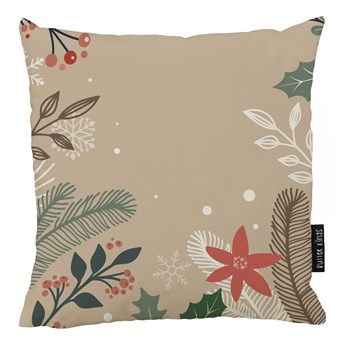 Świąteczna poduszka z poszewką z bawełny Butter Kings Branches, 45x45