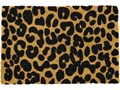 Wycieraczka z naturalnego włókna kokosowego Artsy Doormats Leopard, 40x60 cm Włókno kokosowe Kategoria Wycieraczki Kolor Brązowy