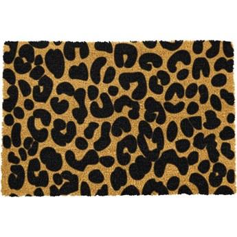 Wycieraczka z naturalnego włókna kokosowego Artsy Doormats Leopard, 40x60 cm