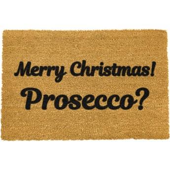 Wycieraczka z naturalnego włókna kokosowego Artsy Doormats Merry Prosecco, 40x60 cm